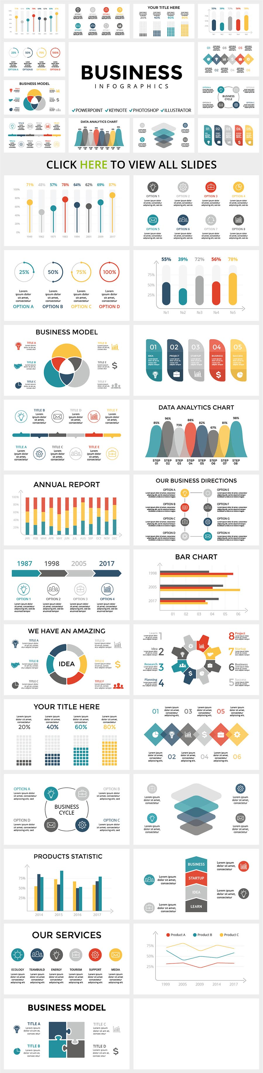 Modern and unusual infographics. It keeps up with the times and introduces all possible novelties.