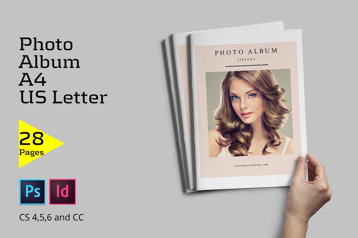 28 Page Indesign Photo Album Template  - $5 - 1