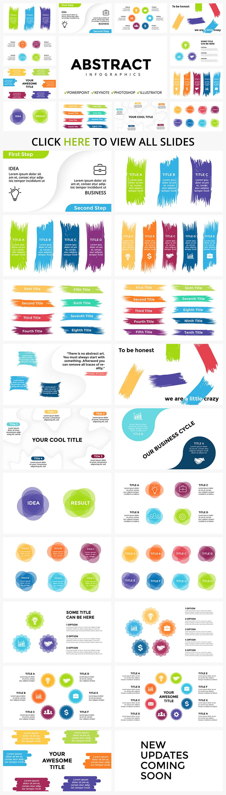 Modern infographics with colorful details and icons. Abstract Infographic Templates.