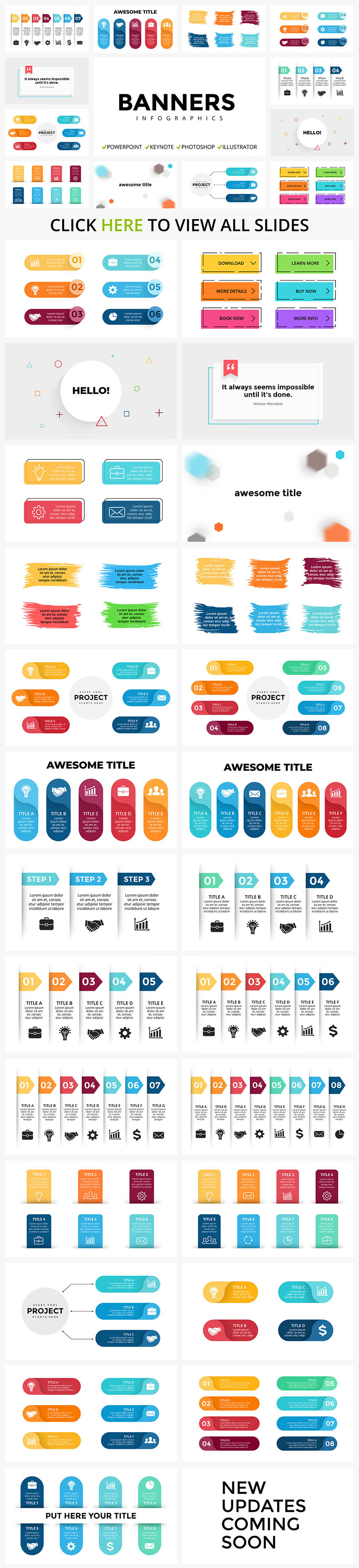 Infographics with clear lines and colorful colors. It is versatile in its use.