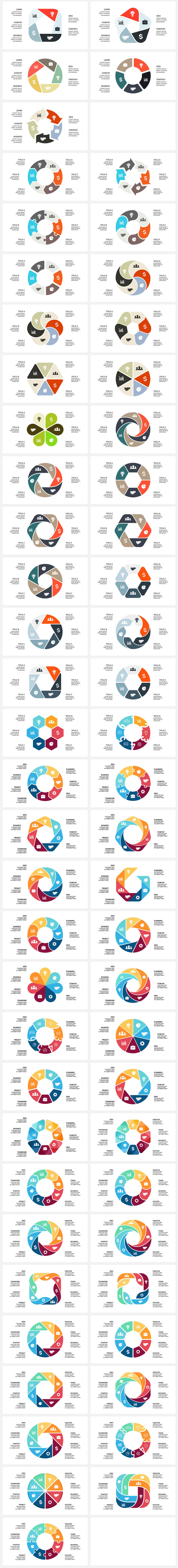 Cool Infographics in 2020. Best Infographics Bundle: 1500 items - $29 - 12 GEOMETRY Part 2