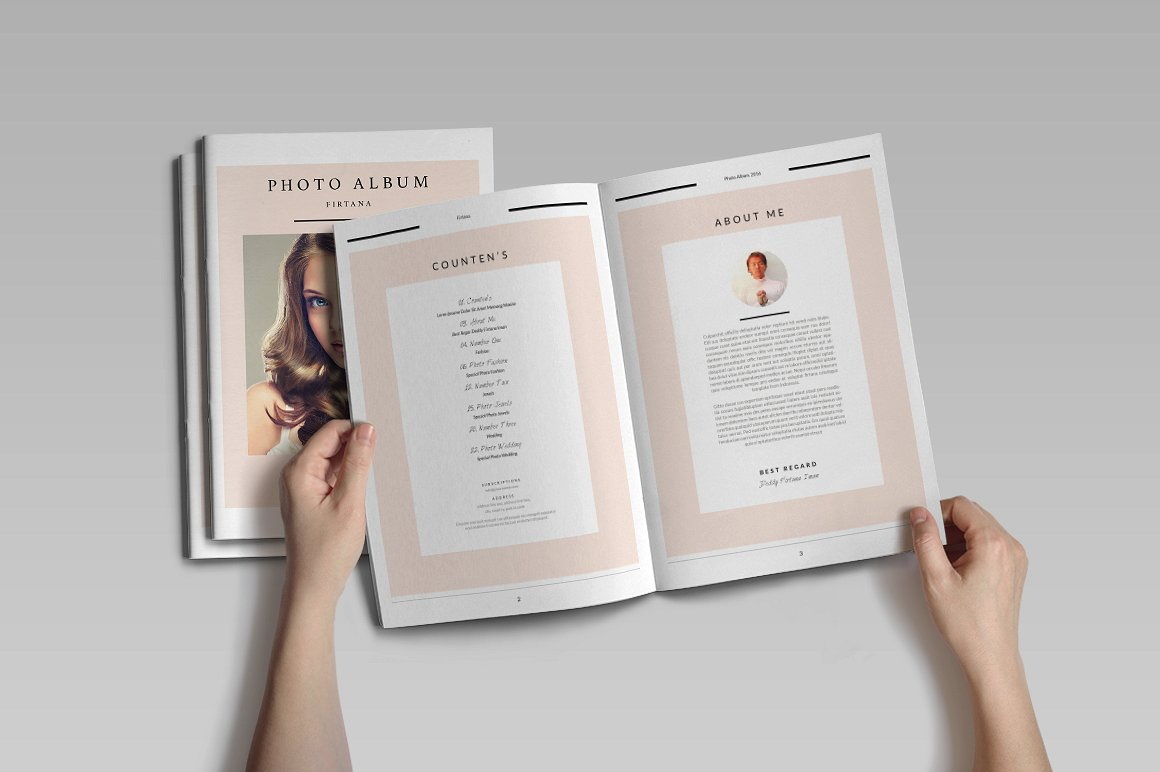 28 Page Indesign Photo Album Template  - $5 - 2