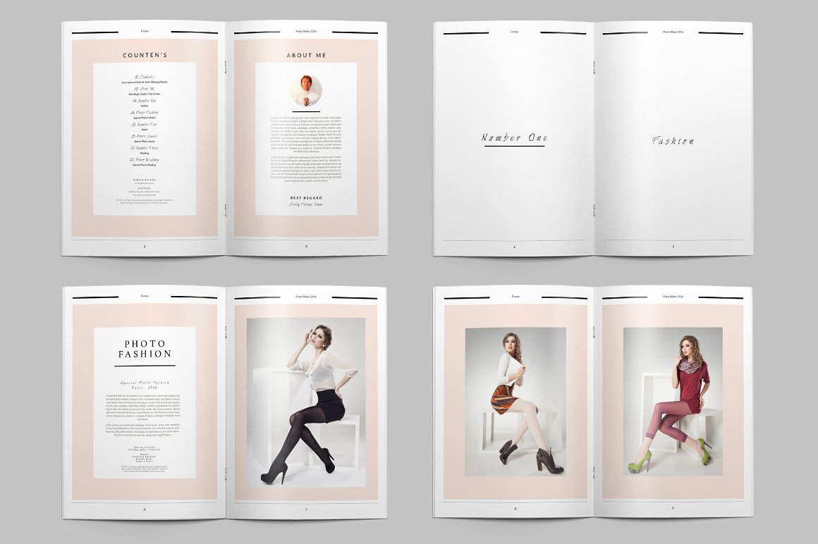 28 Page Indesign Photo Album Template  - $5 - 5