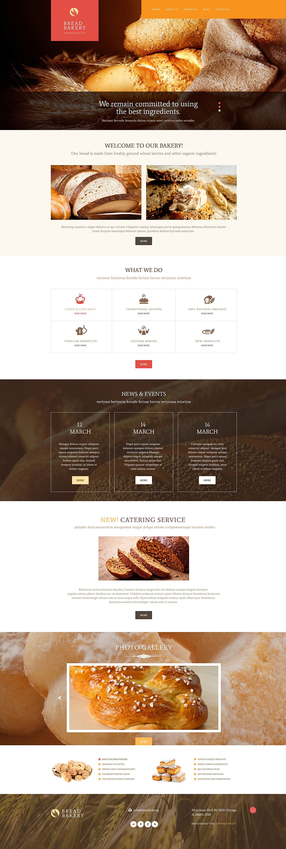 Bread Bakery PSD Template