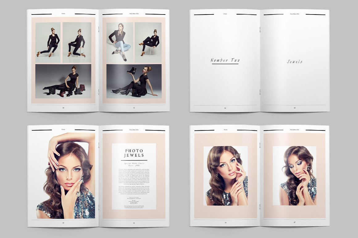 28 Page Indesign Photo Album Template  - $5 - 6