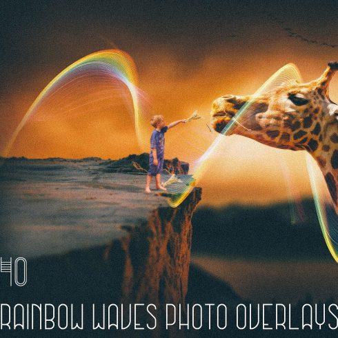 40 Rainbow Waves Photo Overlays - $9 - 600 1 490x490