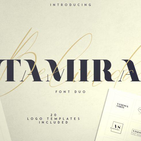 Belinda Tamira - Font duo + 20 Logos - 600 13 490x490