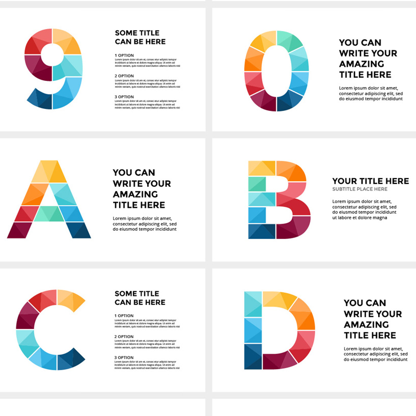 ALPHABET - Infographic Slides cover image.