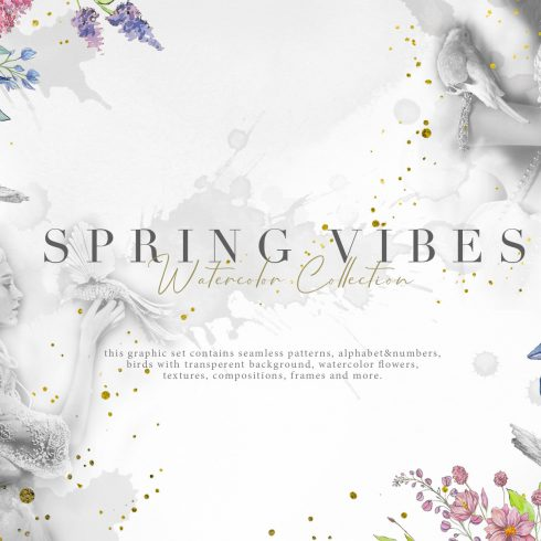 Spring Vibes: Hand-drawn Floral Elements - $17 - 600 19 490x490