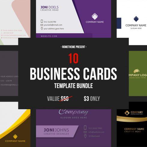 10 Business Card Template Bundle - $3 - 600 23 490x490