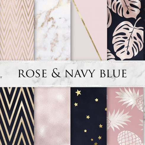 Rose Marble Navy Blue Textures - $4 - 600 26 490x490