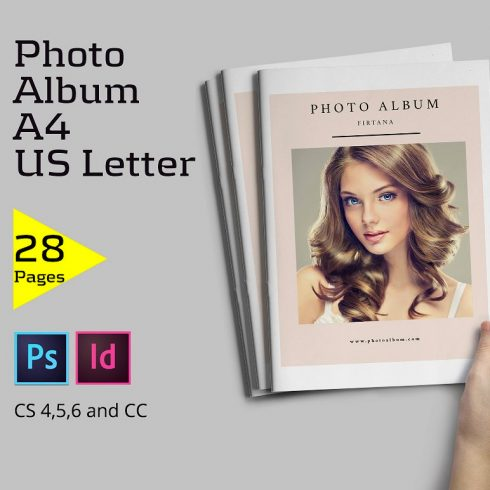 28 Page Indesign Photo Album Template  - $5 - 600 3 490x490