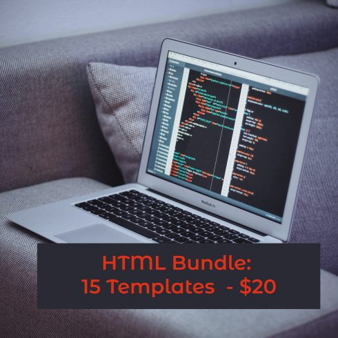 HTML Bundle: 15 Templates  - $39 - 600 7 490x490