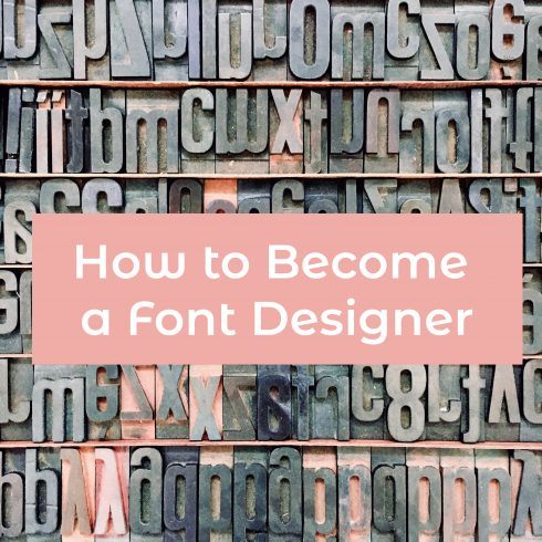Free Checklist: How to Become a Font Designer - 601 12 490x490