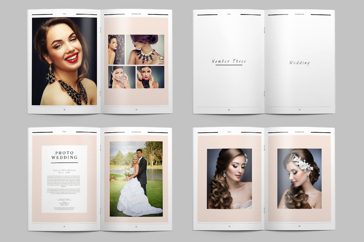 28 Page Indesign Photo Album Template  - $5 - 7