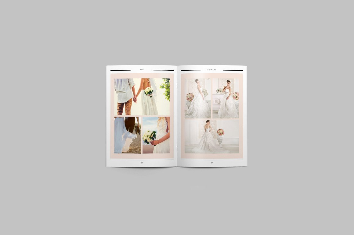28 Page Indesign Photo Album Template  - $5 - 8