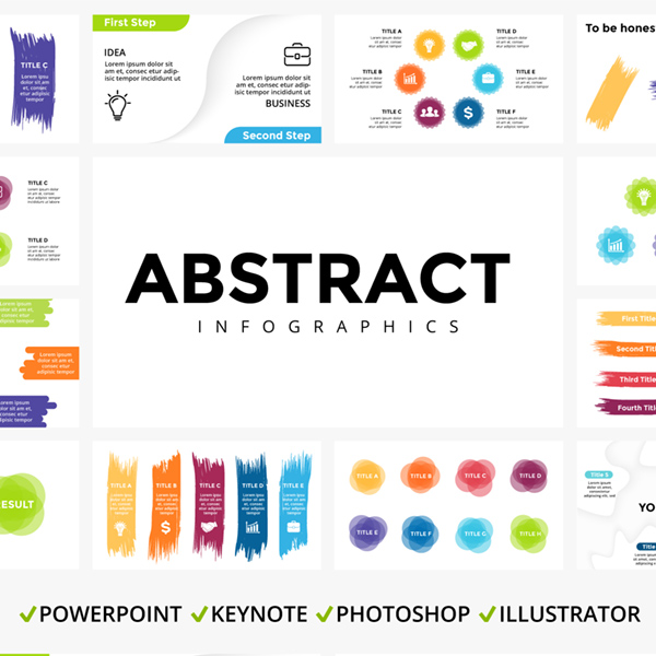 Abstract Infographic Templates - main cover.
