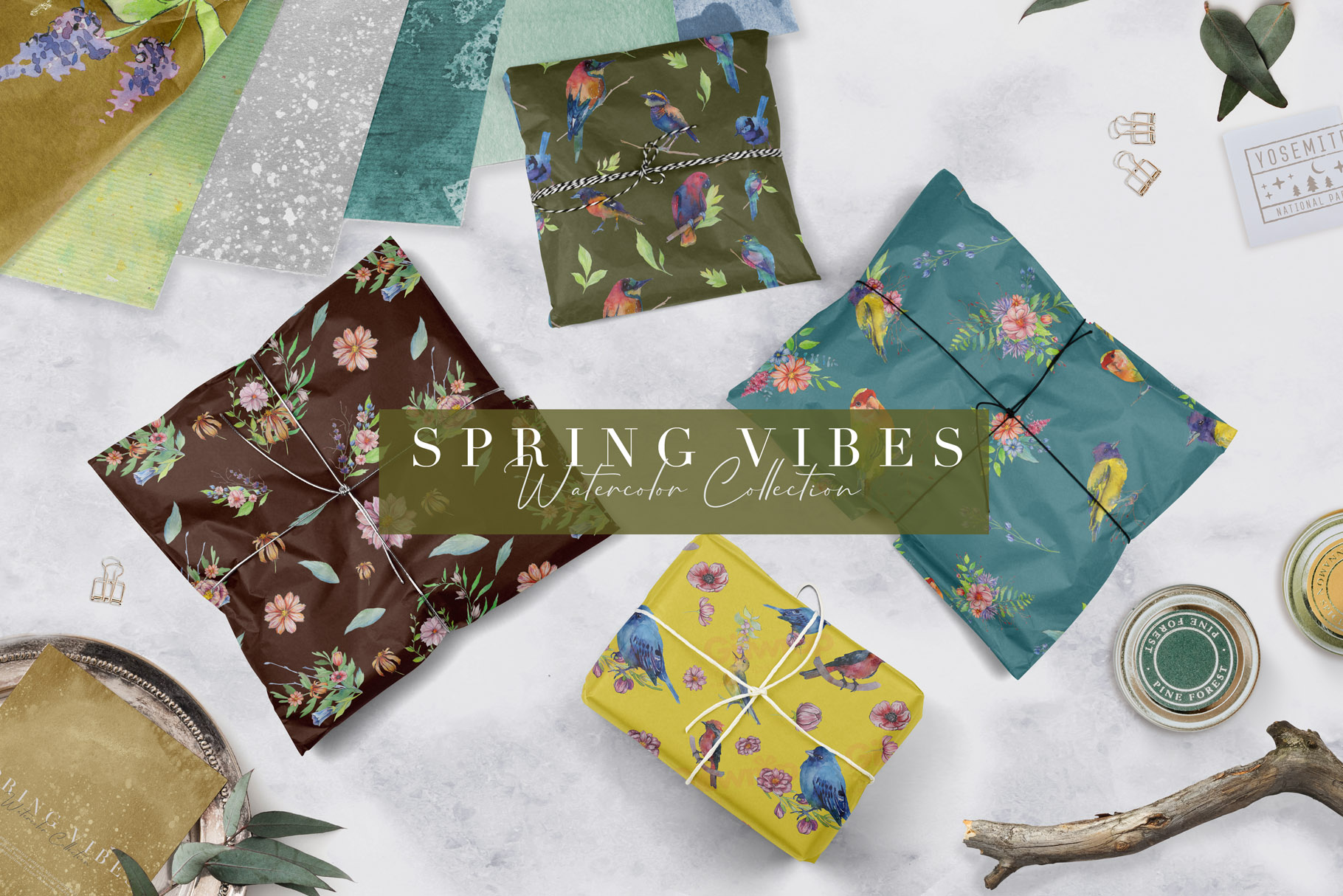 Spring Vibes: Hand-drawn Floral Elements - $17 - Prev14
