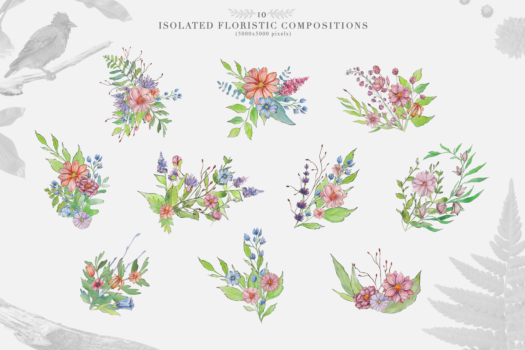Spring Vibes: Hand-drawn Floral Elements