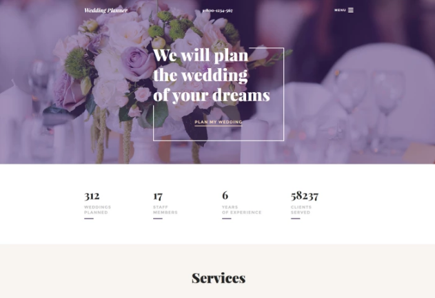 Wedding Planner Template Website Template