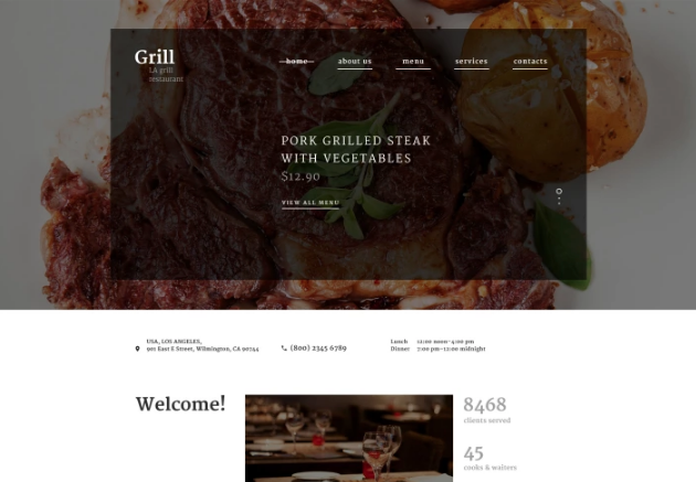 BBQ Restaurant Template Website Template