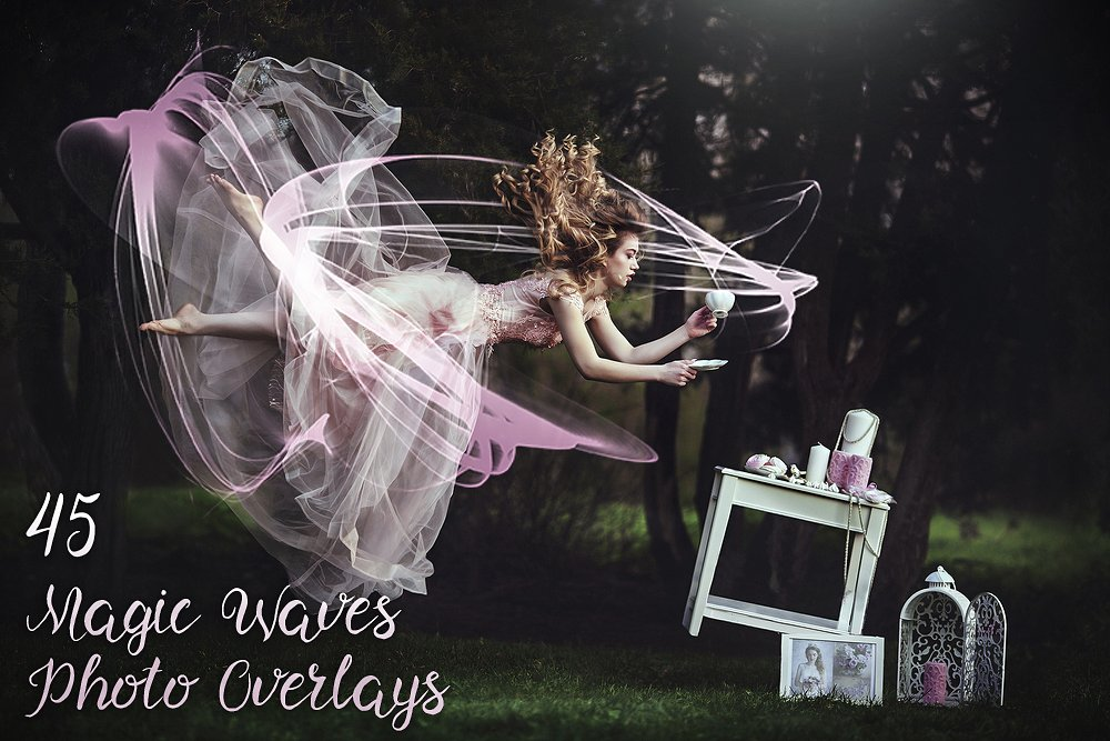 45 Magic Waves Photo Overlays - main image