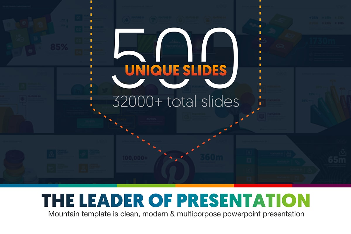 20 Premium PowerPoint and Keynote Templates - 01 Mountain The leader of powerpoint presentation project infographic business ppt pptx animated powerpoint presentation design template free download 2 min