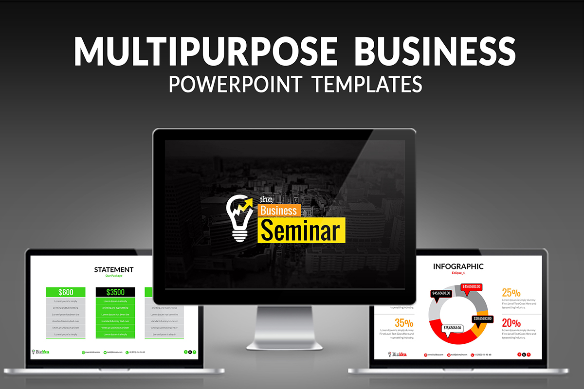 20 Premium PowerPoint and Keynote Templates - 01 Multipurpose Business PowerPoint Presentation Template