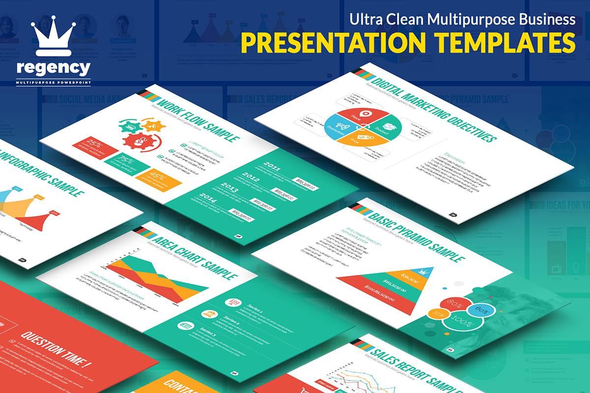 20 Premium PowerPoint and Keynote Templates - 01 Ultra Clean Business Infographic PowerPoint Presentation Design Template Free Download