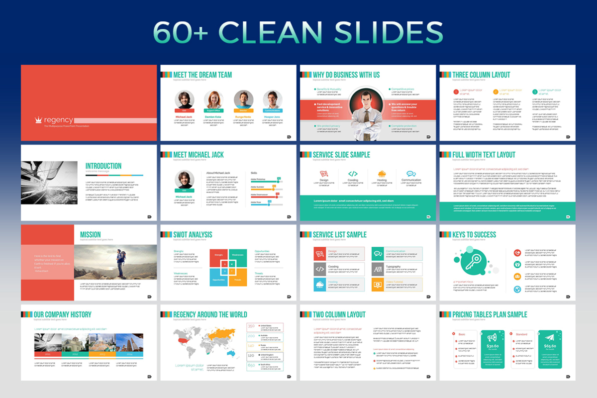 20 Premium PowerPoint and Keynote Templates - 02 60 Clean Slides