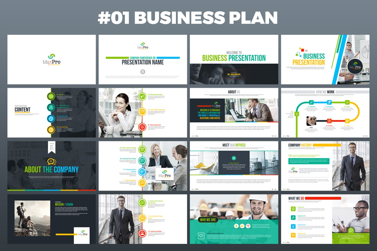 20 Premium PowerPoint and Keynote Templates - 02 Number 1 Business Plan Powerpoint presentation template min