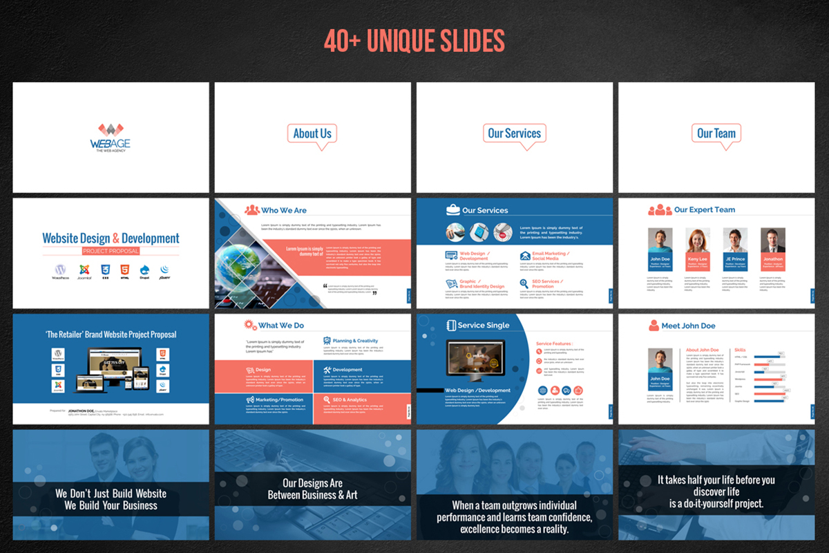 20 Premium PowerPoint and Keynote Templates - 02 Project proposal presentation design template free download editable