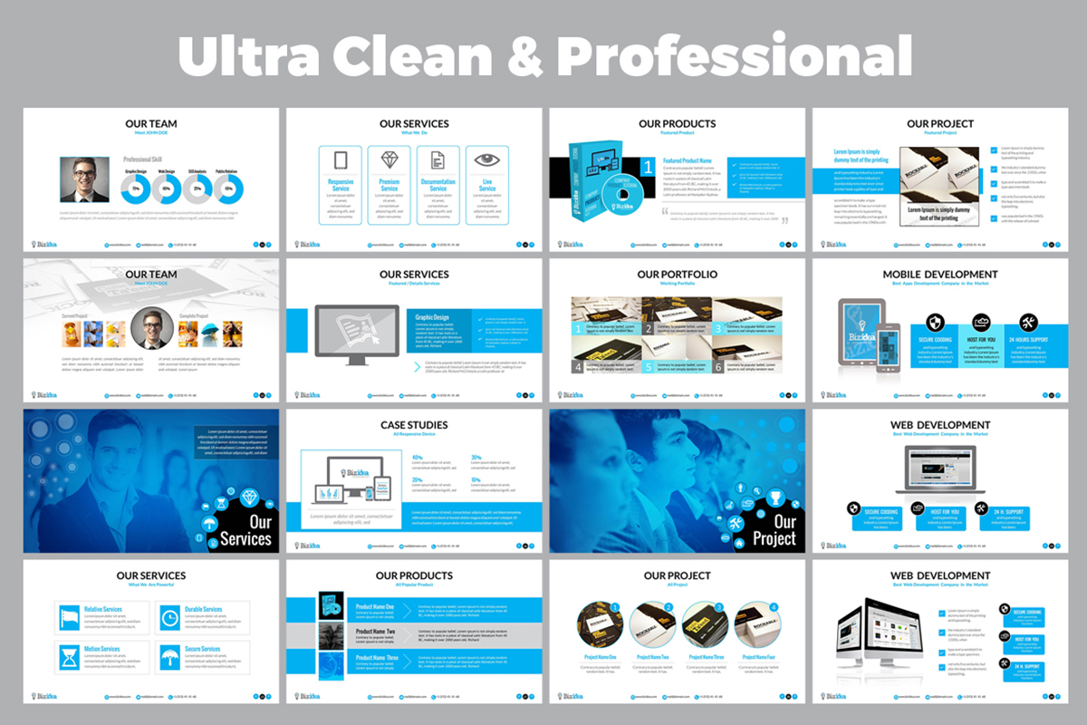 20 Premium PowerPoint and Keynote Templates - 02 Ultra Clean   Professional Presentation