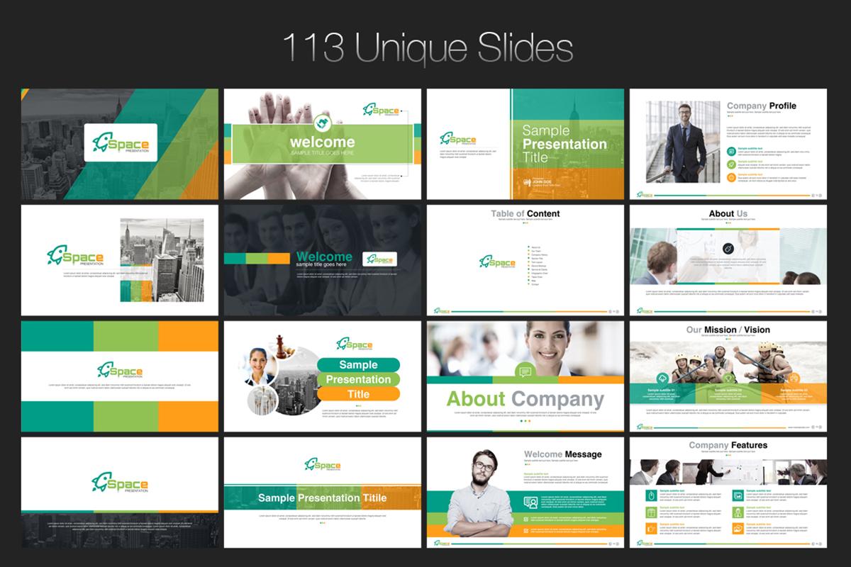 20 Premium PowerPoint and Keynote Templates - 03 113 Unique slide powerpoint presentation template