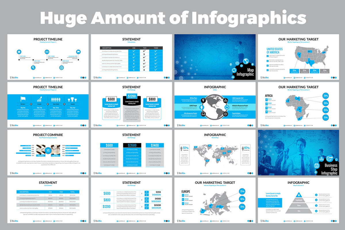 20 Premium PowerPoint and Keynote Templates - 03 Infographic Presentation