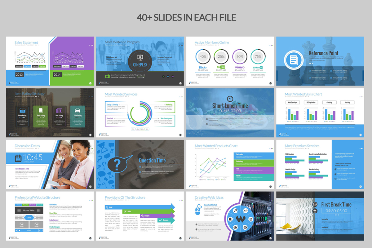 20 Premium PowerPoint and Keynote Templates - 03 Startup Business ppt pptx powerpoint presentation templates