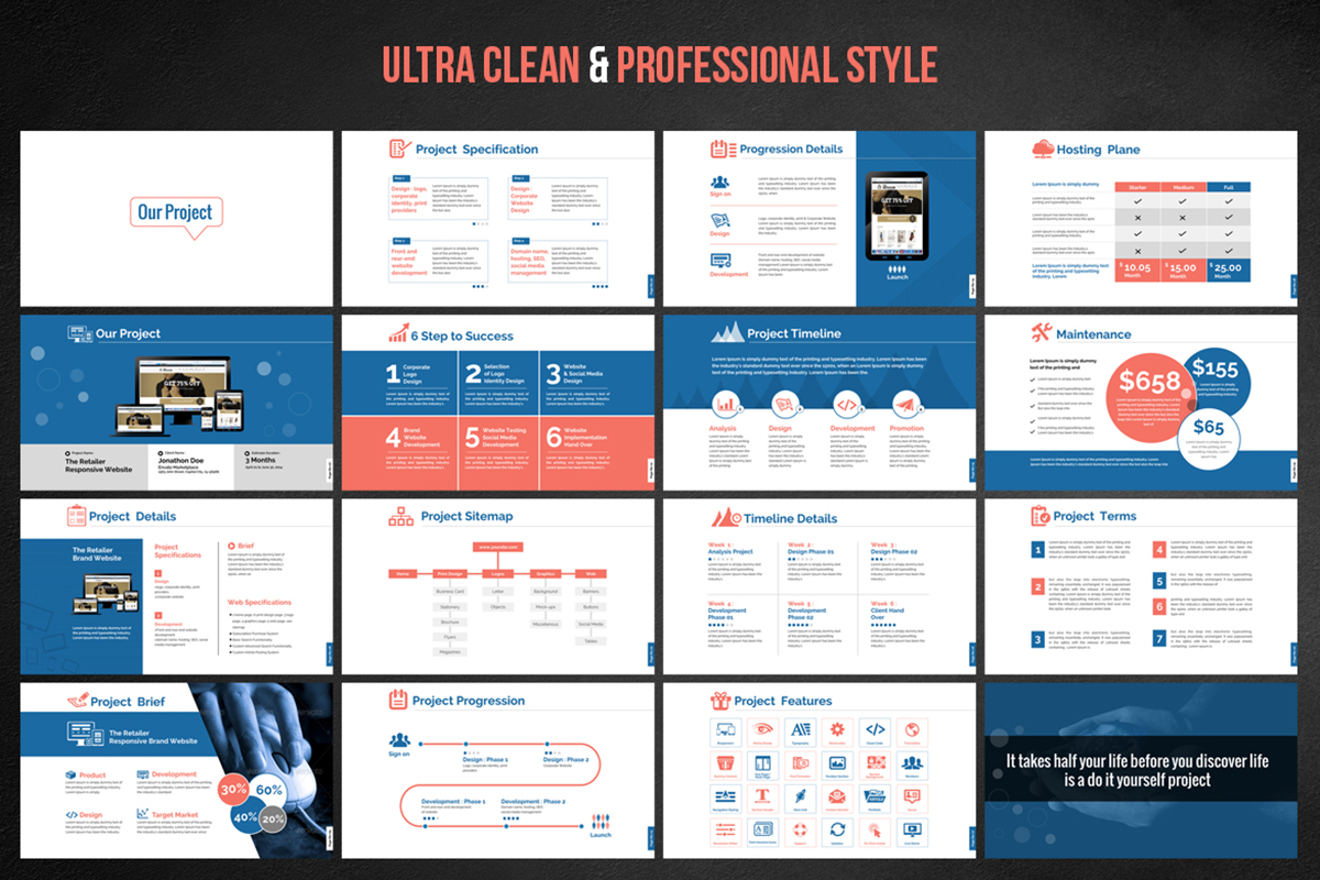 20 Premium PowerPoint and Keynote Templates - 03 Ultra Clean and professional style presentation powerpoint