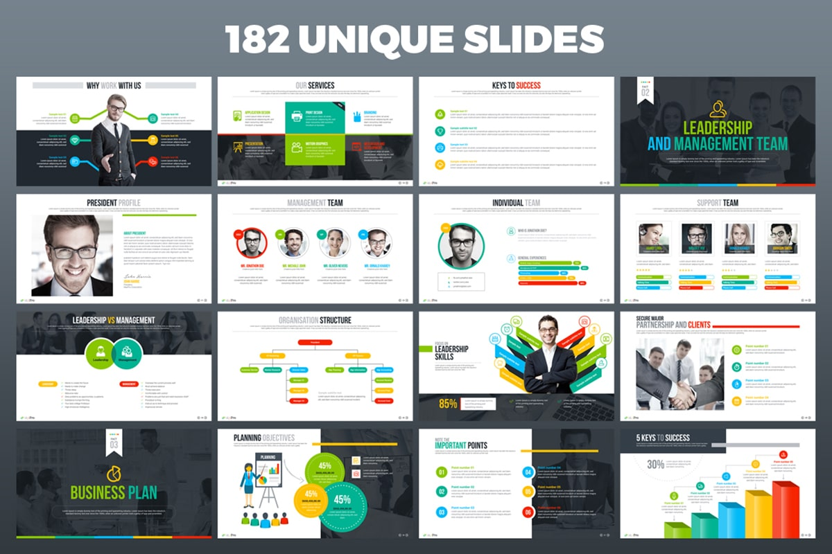 20 Premium PowerPoint and Keynote Templates - 03 Unique slides powerpoint presentation min