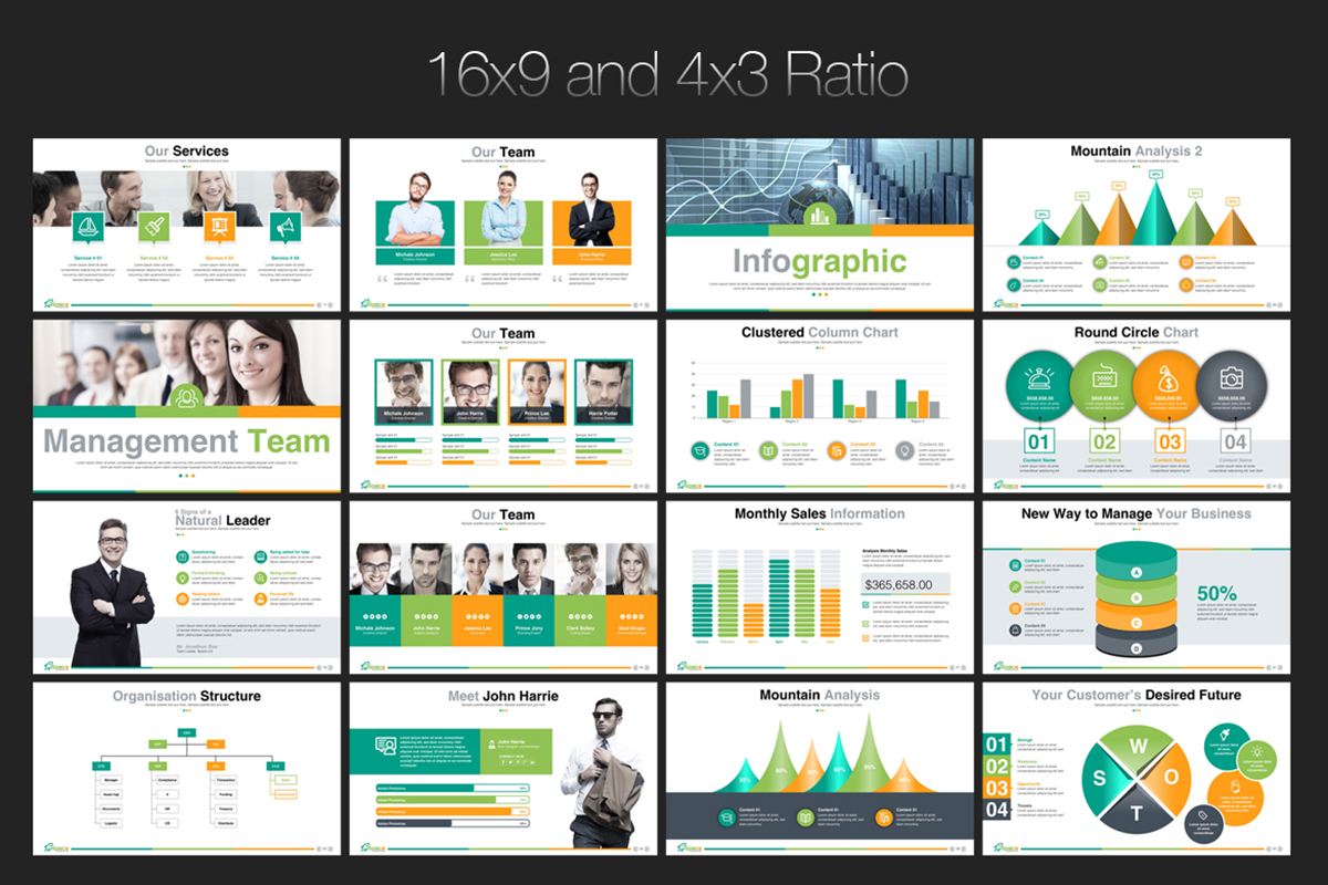 20 Premium PowerPoint and Keynote Templates - 04 16x9 and 4x3 ratio