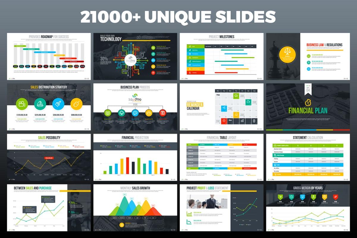 20 Premium PowerPoint and Keynote Templates - 04 21000 unique slides powerpoint presentation min