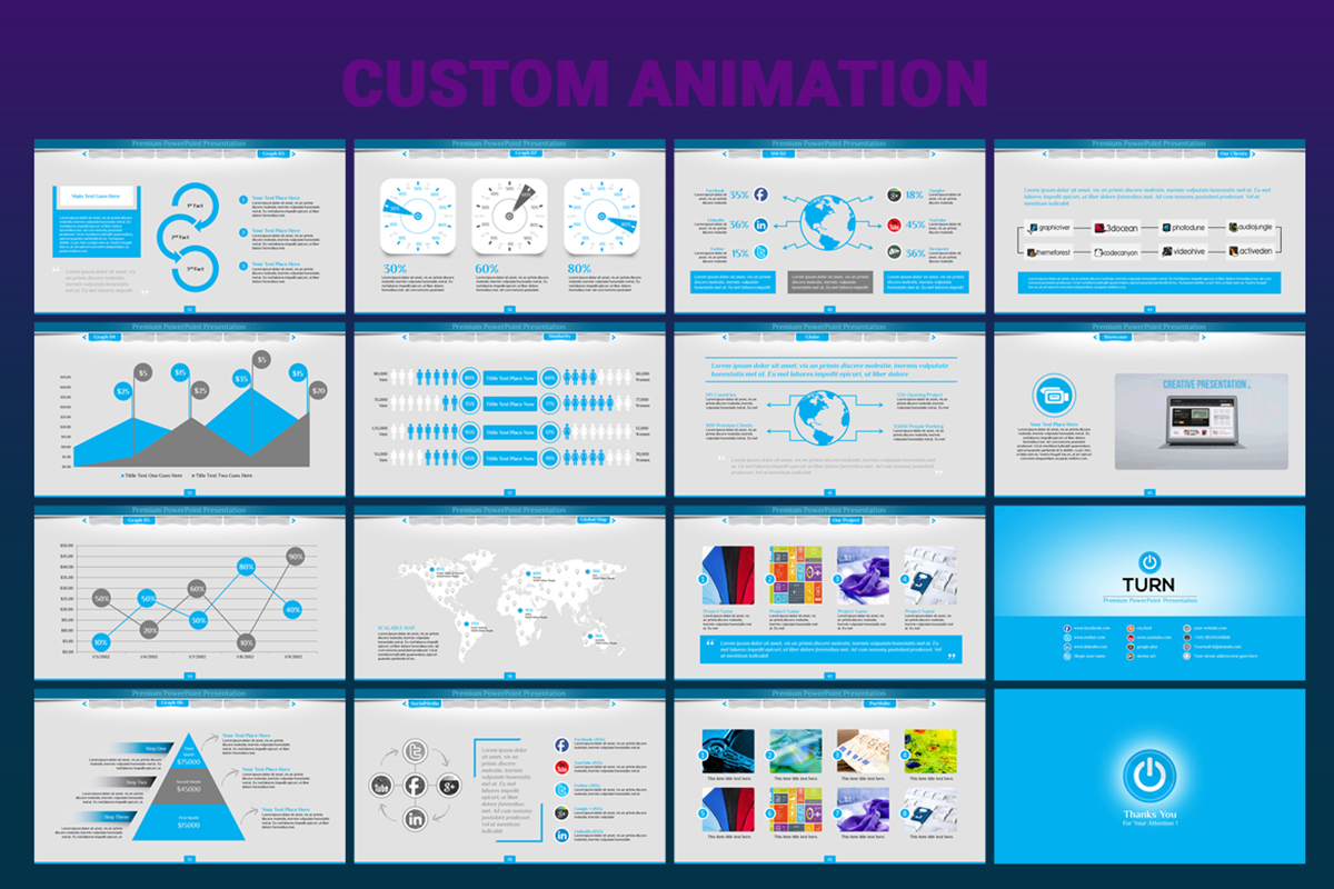 20 Premium PowerPoint and Keynote Templates - 04 Custom Animated PPT template