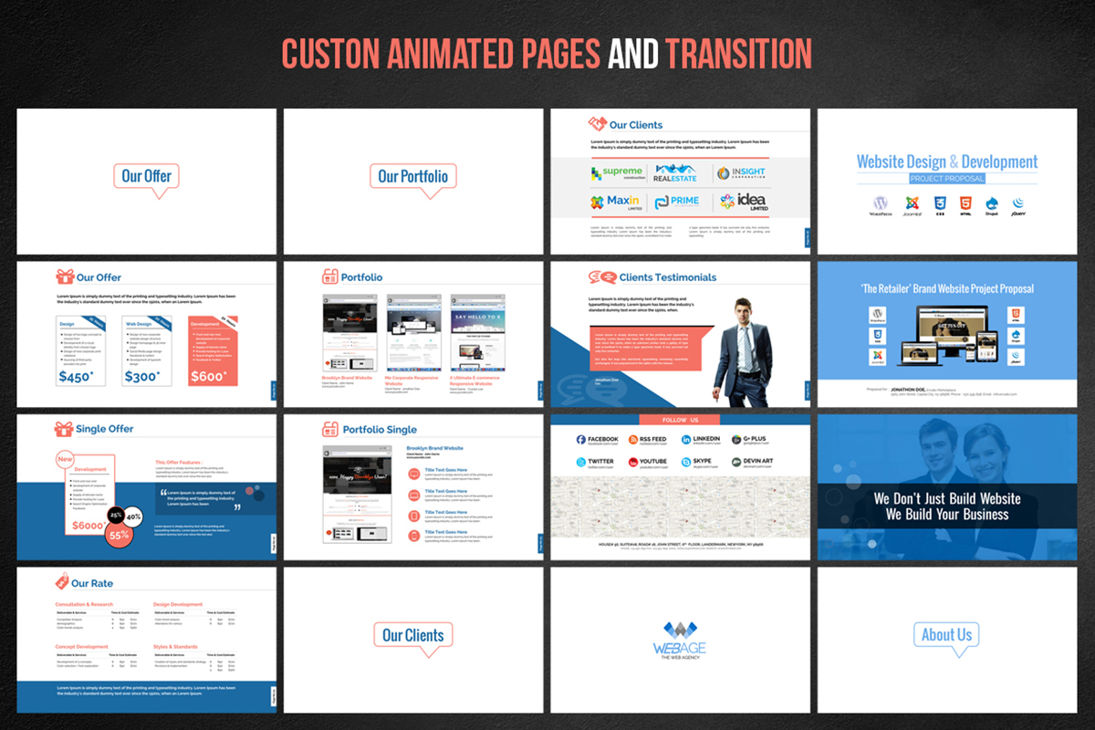20 Premium PowerPoint and Keynote Templates - 04 Custon animation and transition pages powerpoint