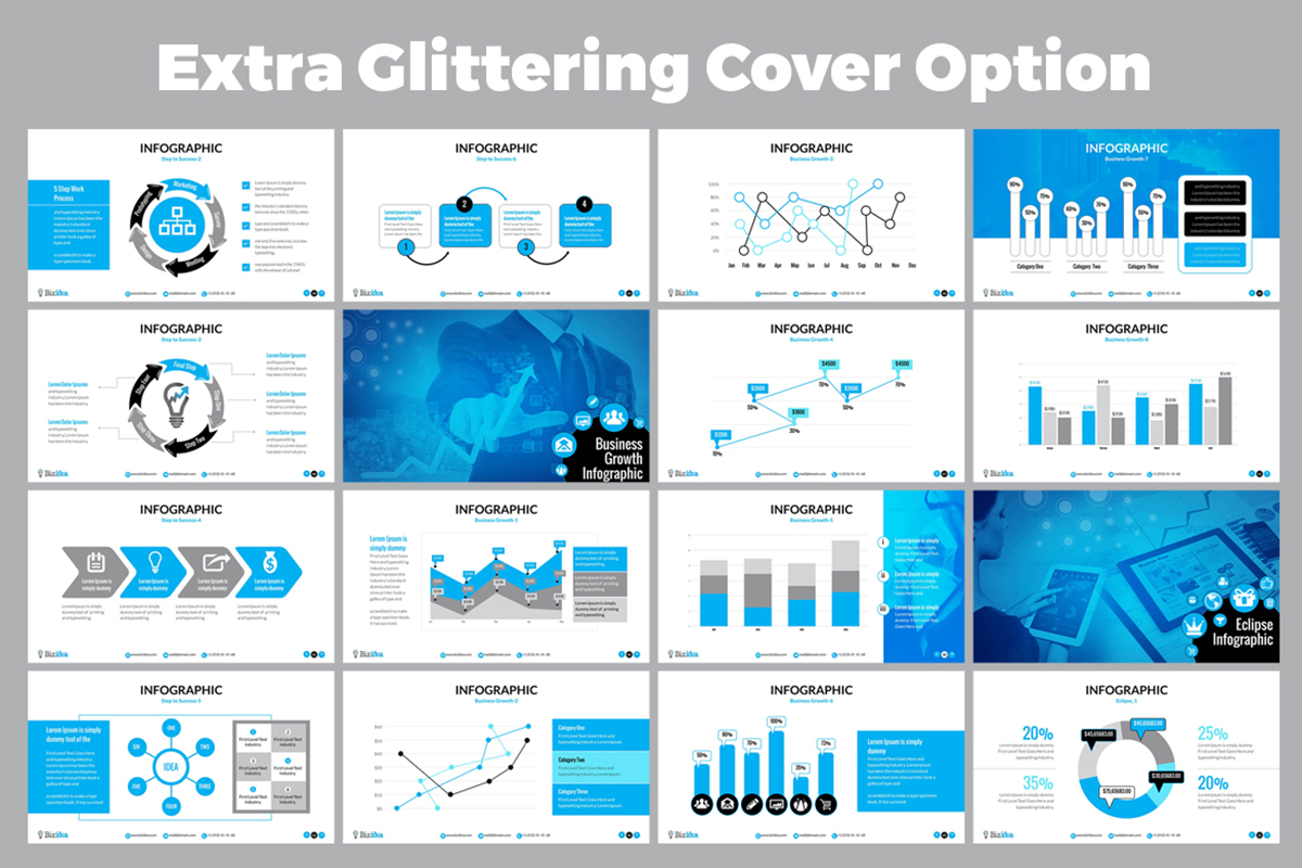 20 Premium PowerPoint and Keynote Templates - 04 Many Option editable vector infographic powerpoint template