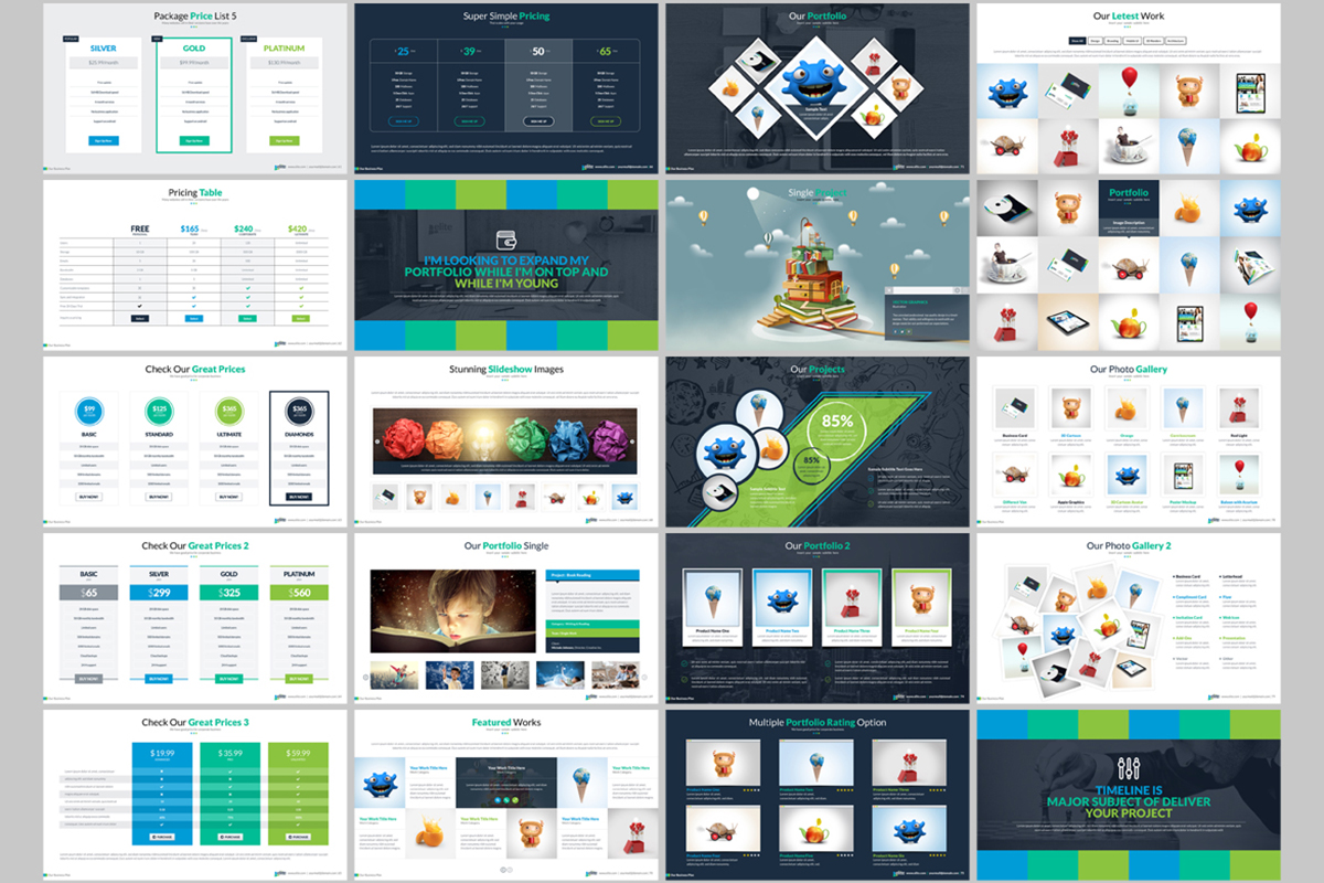 20 Premium PowerPoint and Keynote Templates - 05 ContactSheet 004