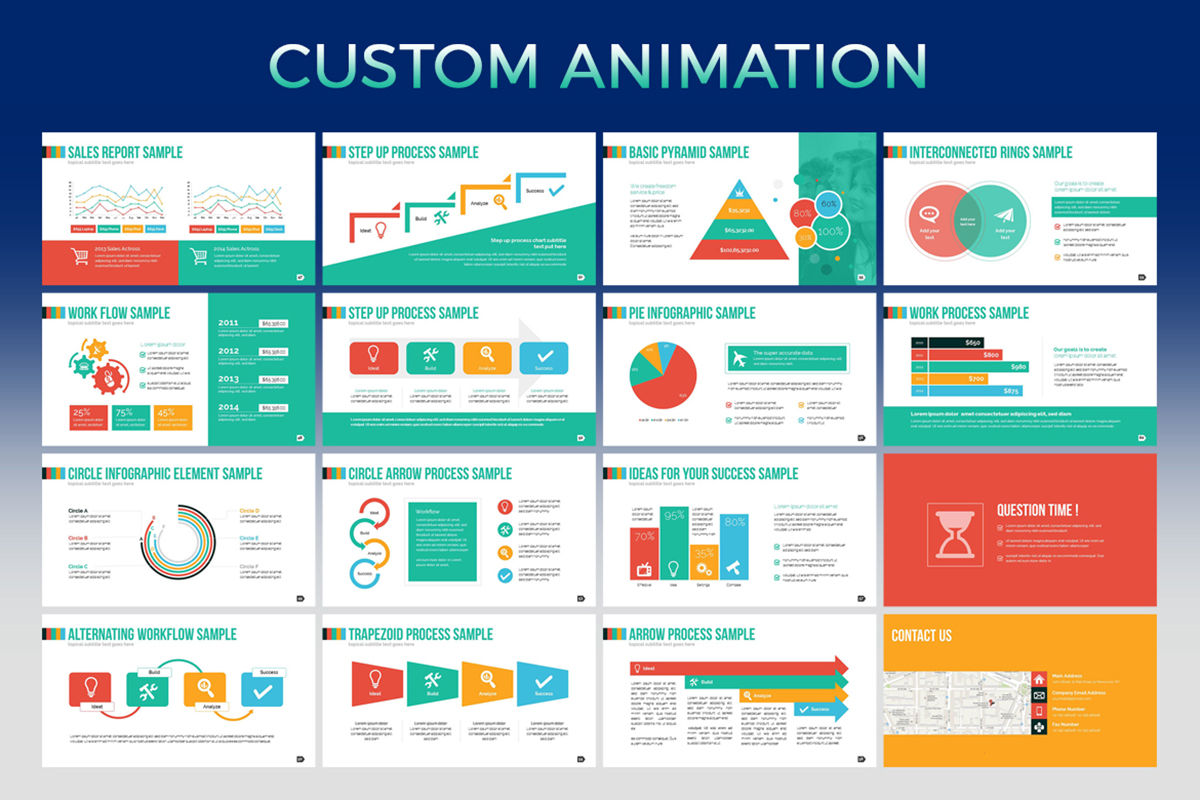 20 Premium PowerPoint and Keynote Templates - 05 Custom Animation PowerPoint Presentation template