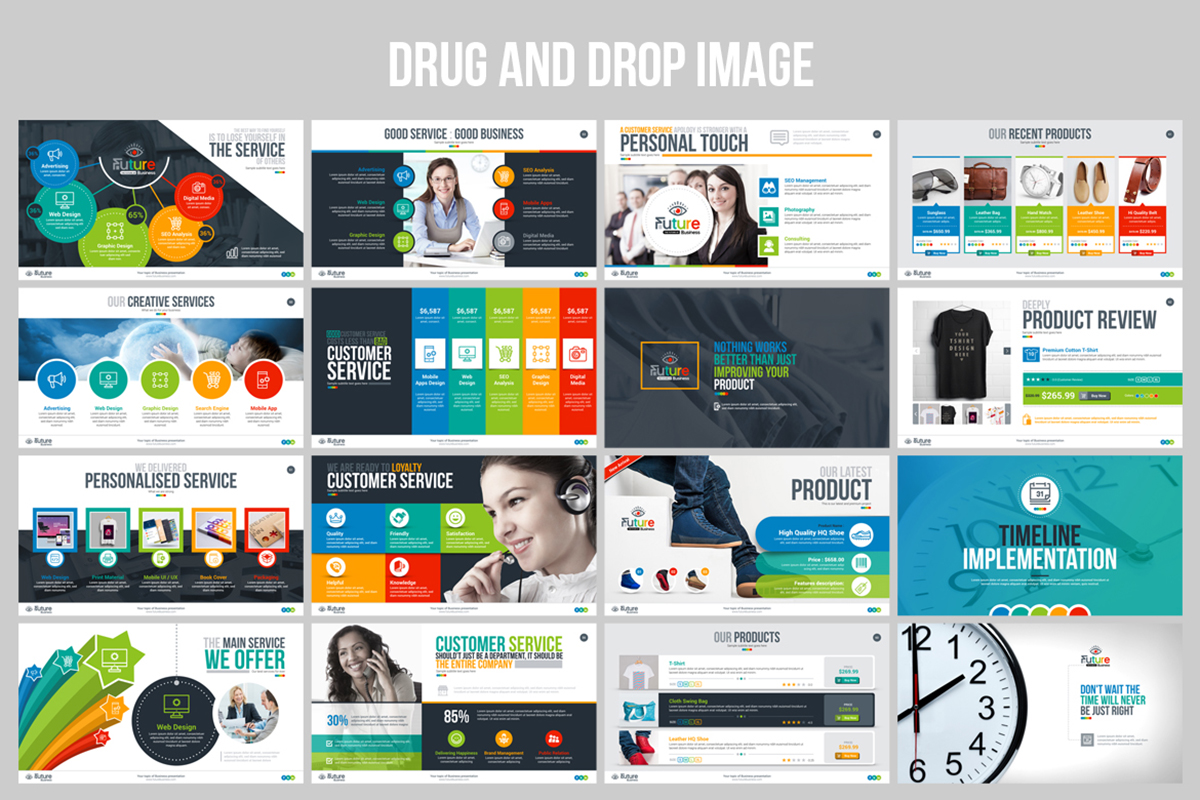 20 Premium PowerPoint and Keynote Templates - 05 Drug and drop image ready business plan presentation