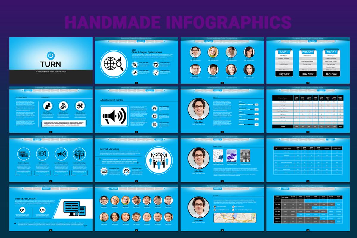 20 Premium PowerPoint and Keynote Templates - 05 Handmade custom infographic PPT
