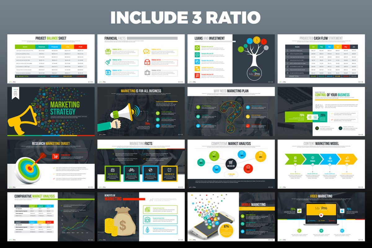 20 Premium PowerPoint and Keynote Templates - 05 Include 3 ratio min