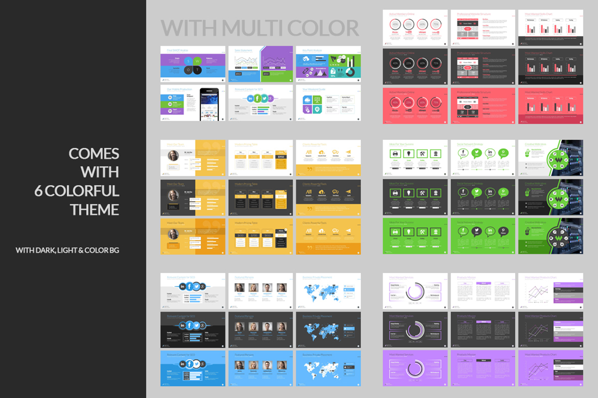 20 Premium PowerPoint and Keynote Templates - 05 PowerPoint Color variation editable