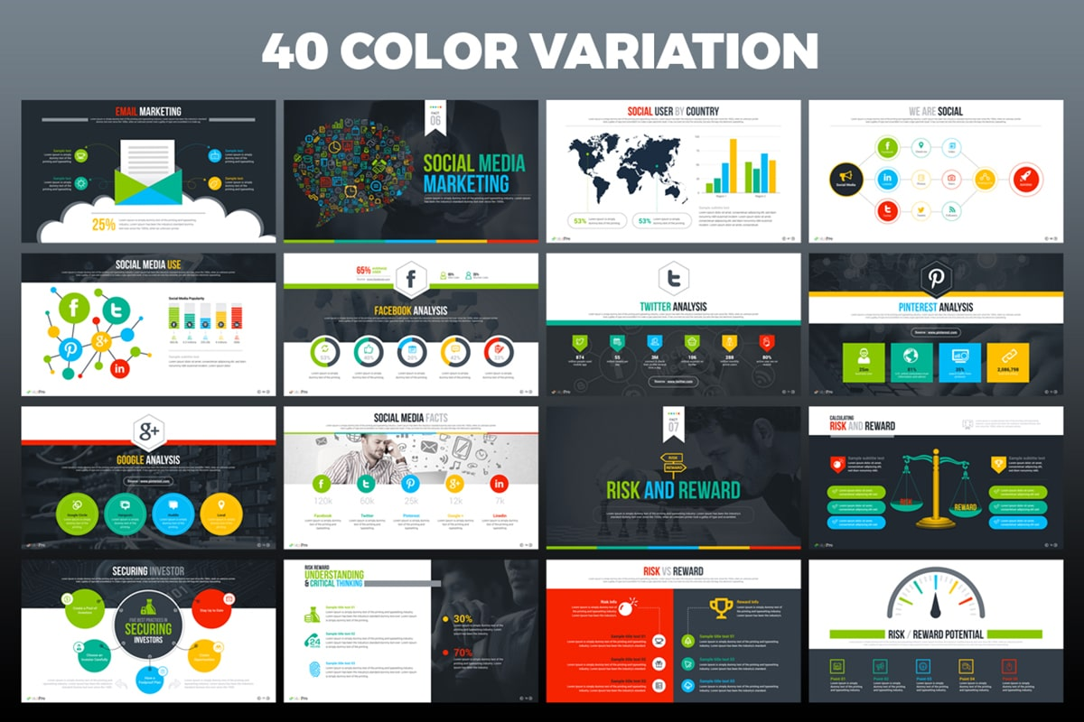 20 Premium PowerPoint and Keynote Templates - 06 40 Color variation min